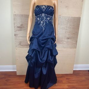 City Triangles Blue Sequined Prom Dress